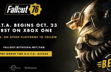 Fallout 76 Beta Dates Revealed