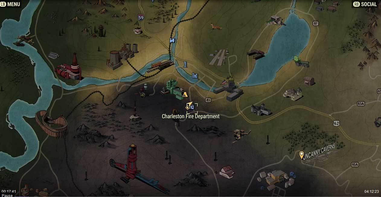 Charleston Fire Department Fallout 76 Vendors