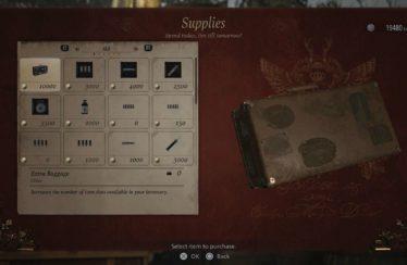 Resident Evil Village Inventory Size