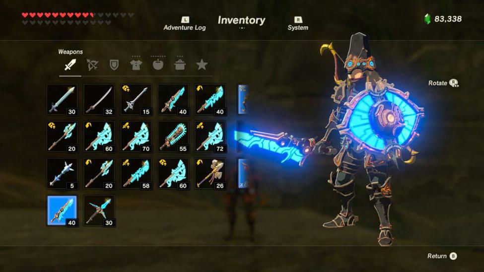 Legend of Zelda Guardians Ancient Weapons