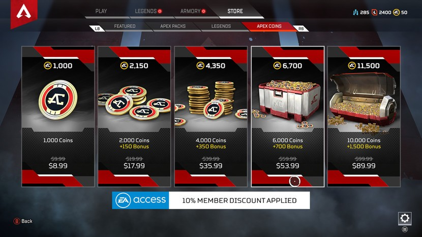 Apex Coins Apex Legends In-Game Currency