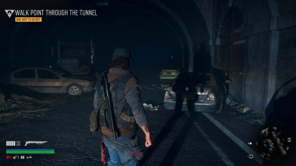 Days Gone How to Walk Point Through the Tunnel