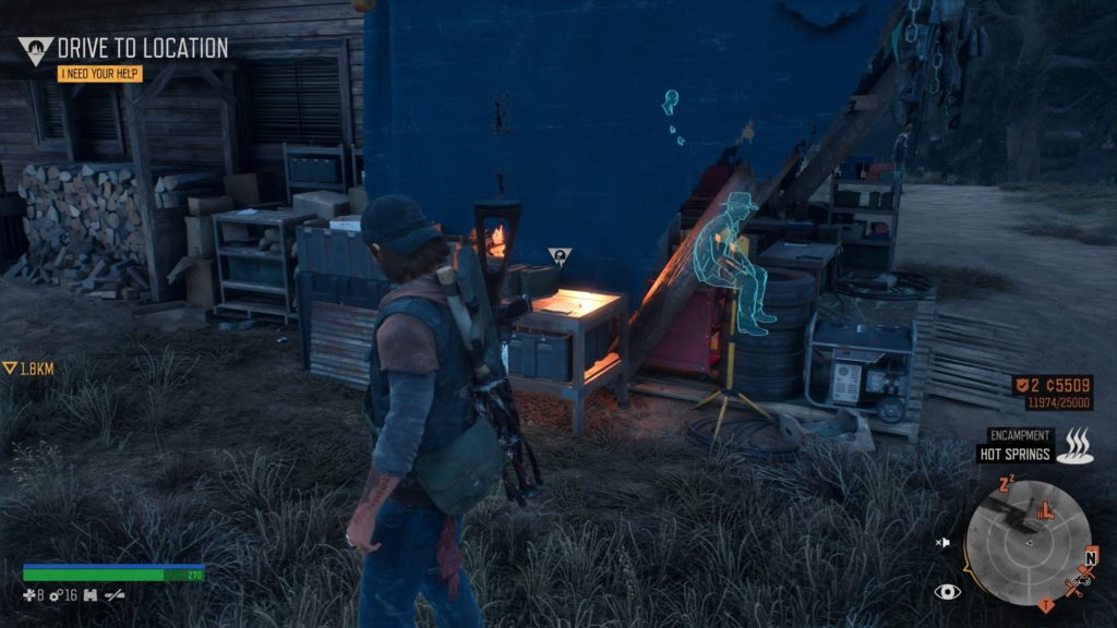 Days Gone Belknap Character Collectible Location 2
