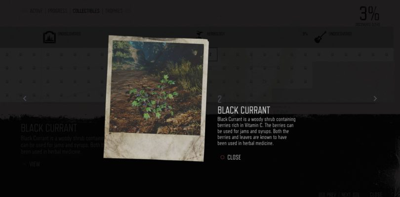 Days Gone: Black Currant Herbology Collectible Location Guide