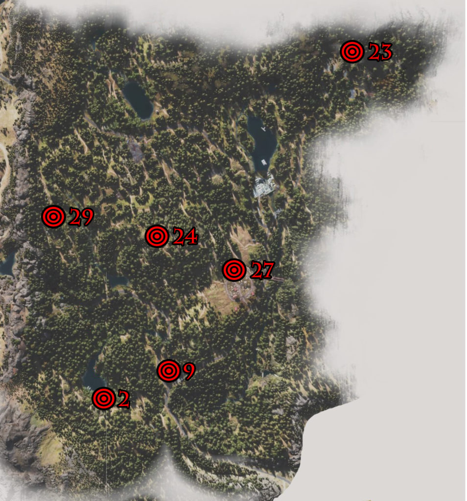 Days Gone Cascade Herbology Plants Collectibles Locations Map