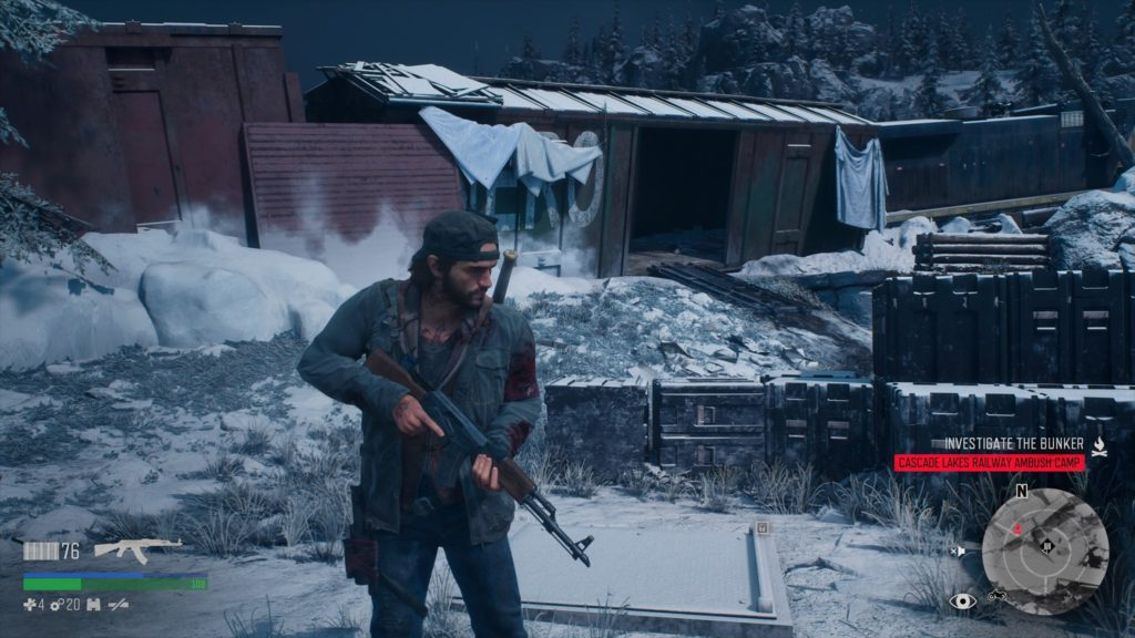 Days Gone Cascade Lakes Railway Ambush Camp Bunker Location