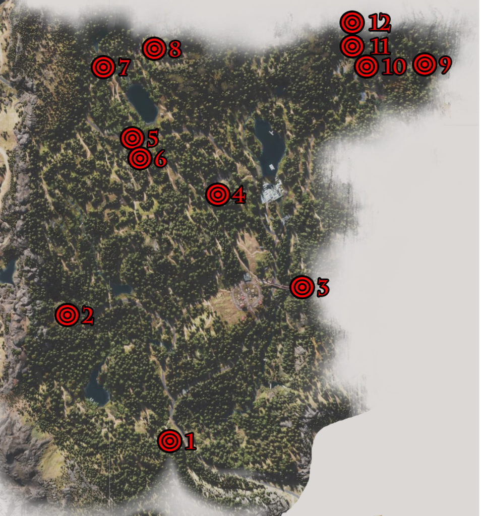 Days Gone Cascade Nero Intel Collectibles Locations Map