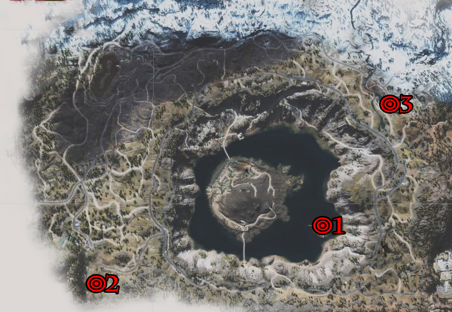 Days Gone Crater Lake IPCA Tech Locations Map