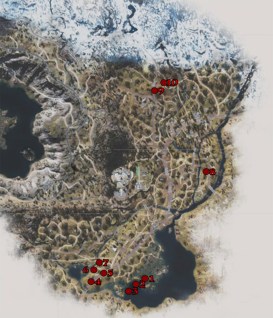 Days Gone Highway 97 Crier Infestation Locations Map
