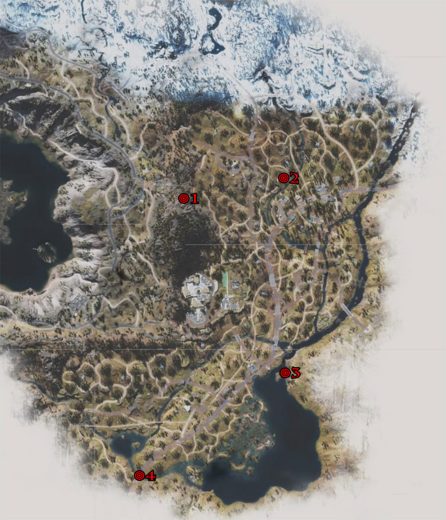 Days Gone Highway 97 Nero Research Sites Locations Map