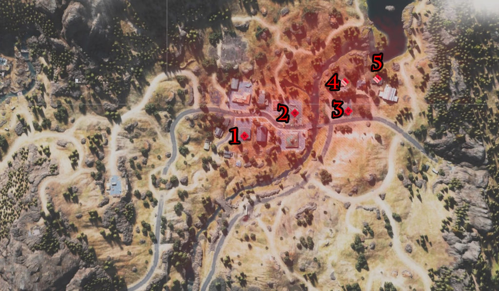 Days Gone Marion Forks Nests Locations Map