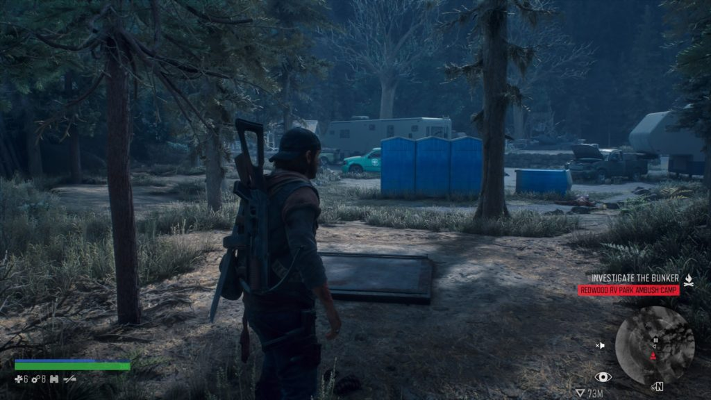 Days Gone Redwood RV Park Ambush Camp Bunker Location