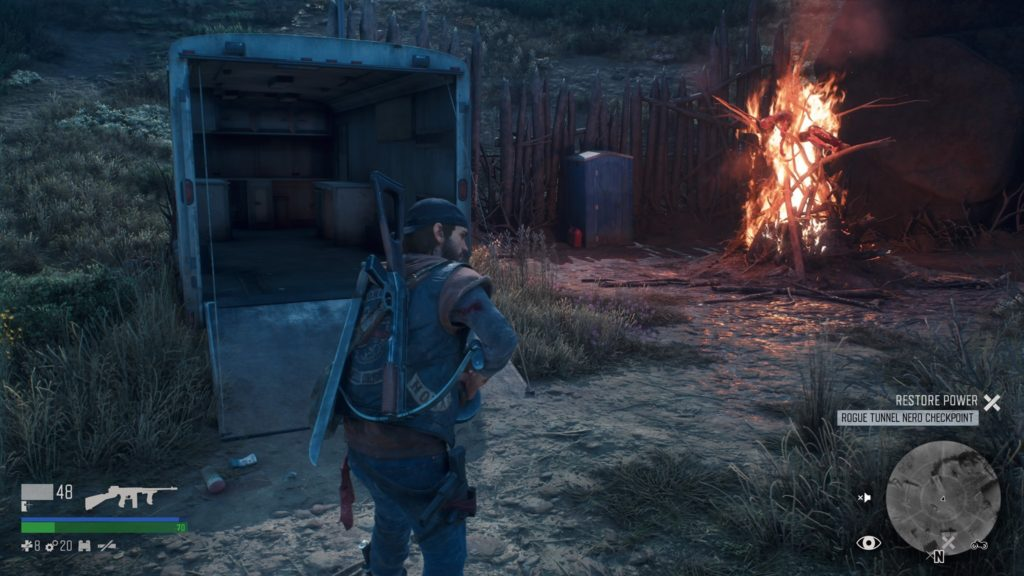 Days Gone Rogue Tunnel Nero Checkpoint Generator Fuel Location