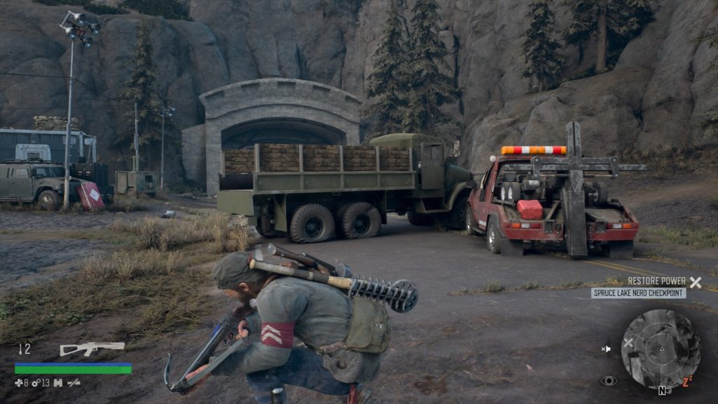 Days Gone Spruce Lake Checkpoint Generator Fuel Location