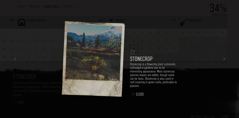Days Gone Stonecrop Herbology Collectible Location Guide