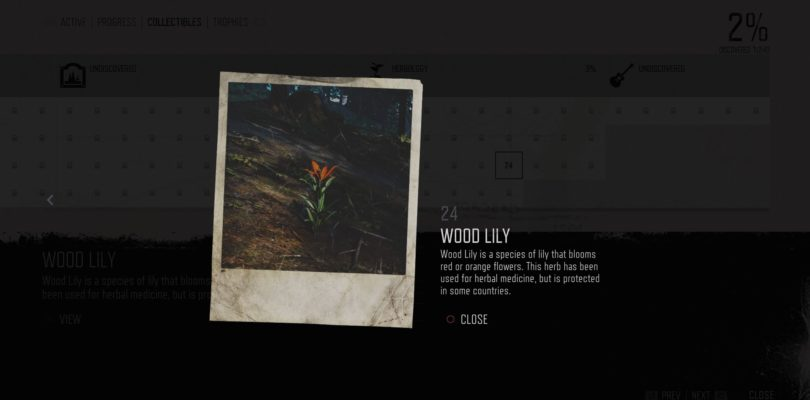 Days Gone: Wood Lily Herbology Collectible Location Guide