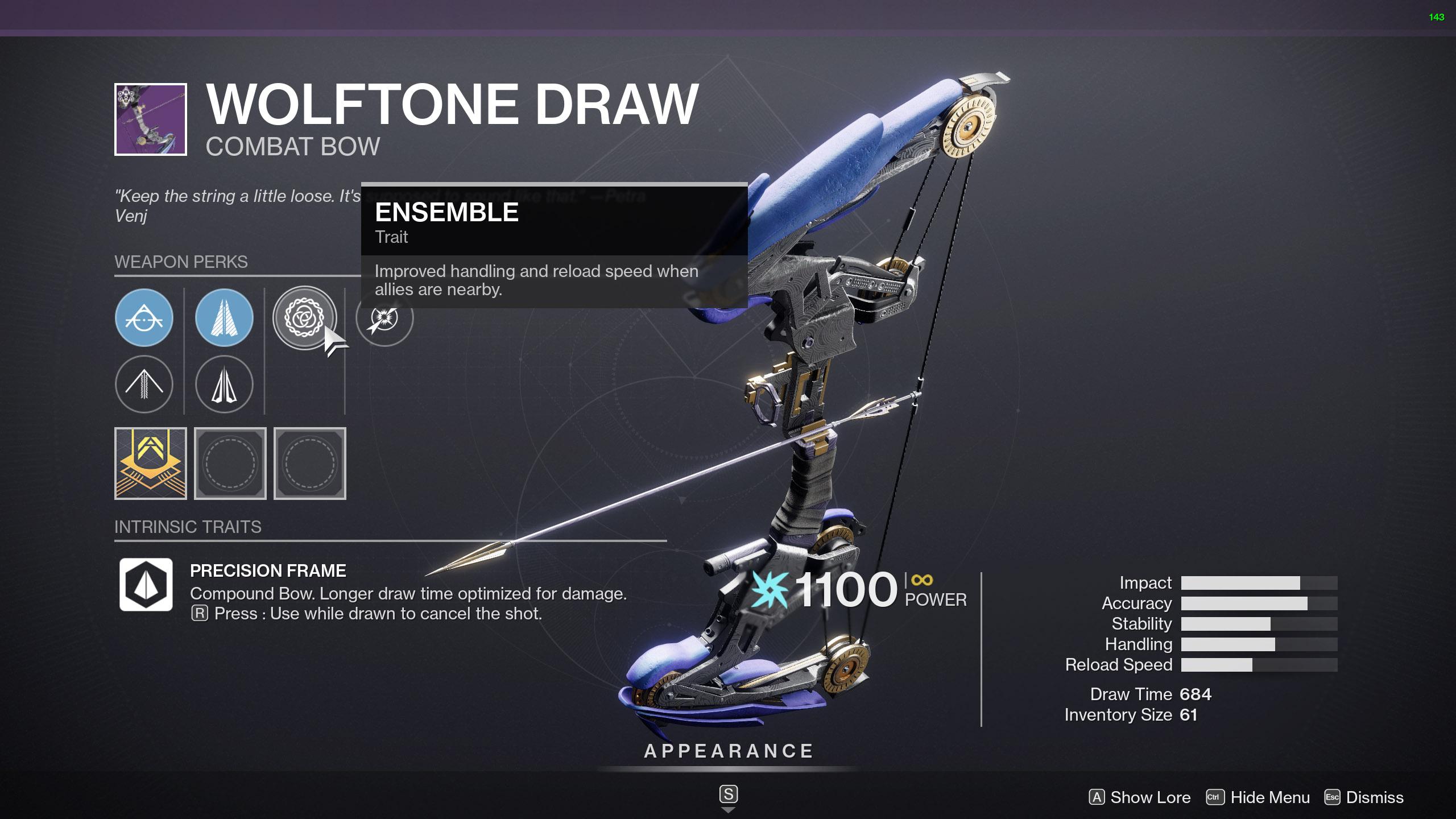 Wolftone Draw - Combat Bow