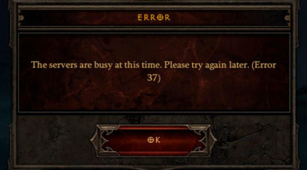 Diablo 3 Error 37