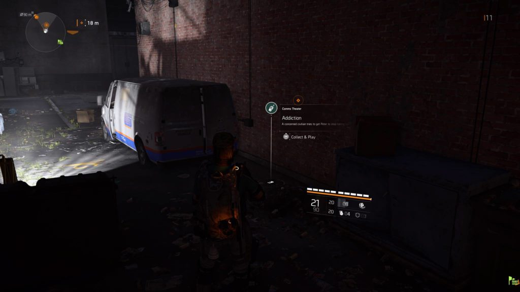 Division 2 Addiction Theater Comm Collectible Location