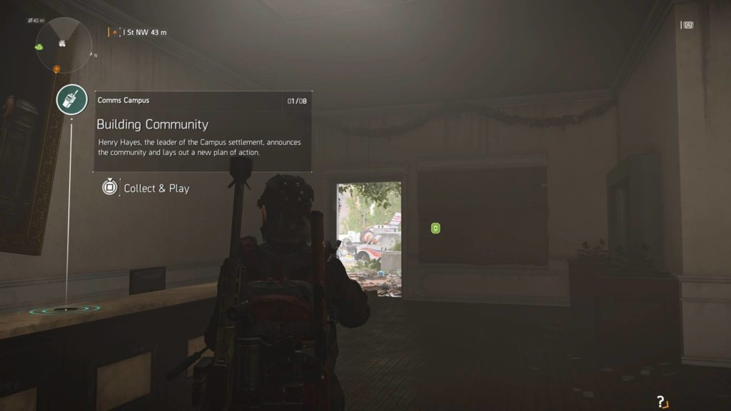 Division 2 Building Community Campus Comm Collectible Location