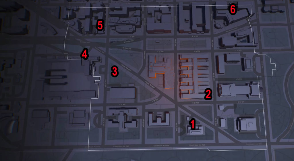 Division 2 Constitution Hall SHD Tech Caches Locations Map