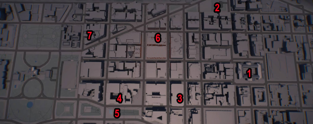 Division 2 Downtown East SHD Tech Caches Locations Map
