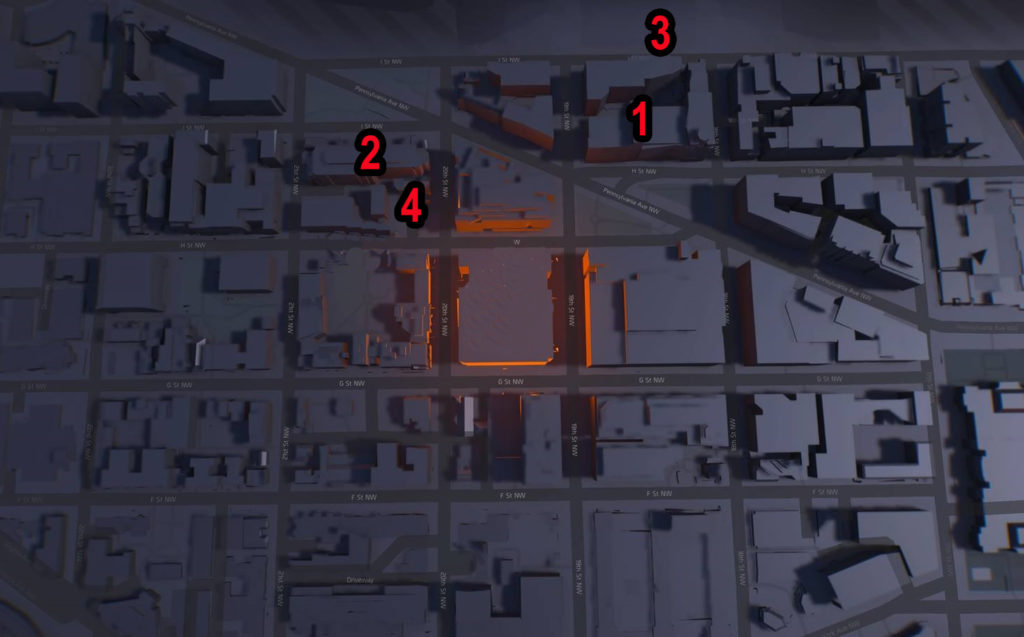 Division 2 Downtown West Campus Comms Locations