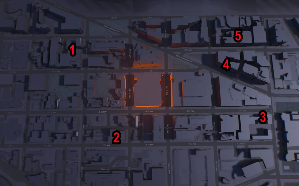Division 2 Downtown West SHD Tech Caches Locations Map