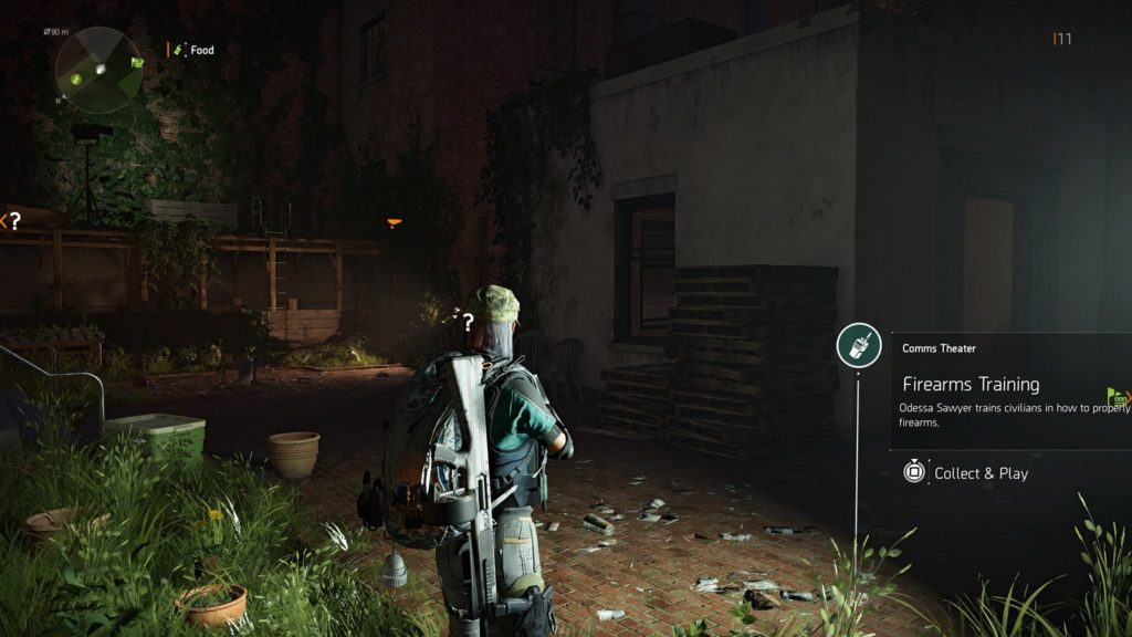 Division 2 Firearms Training Theater Comm Collectible Location