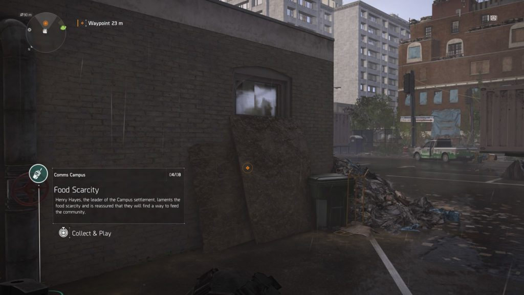 Division 2 Food Scarcity Campus Comm Collectible Location
