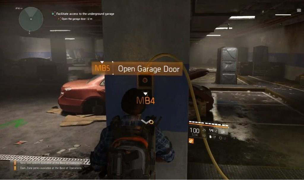 Tom Clancy's The Division 2 Garage Stash Location