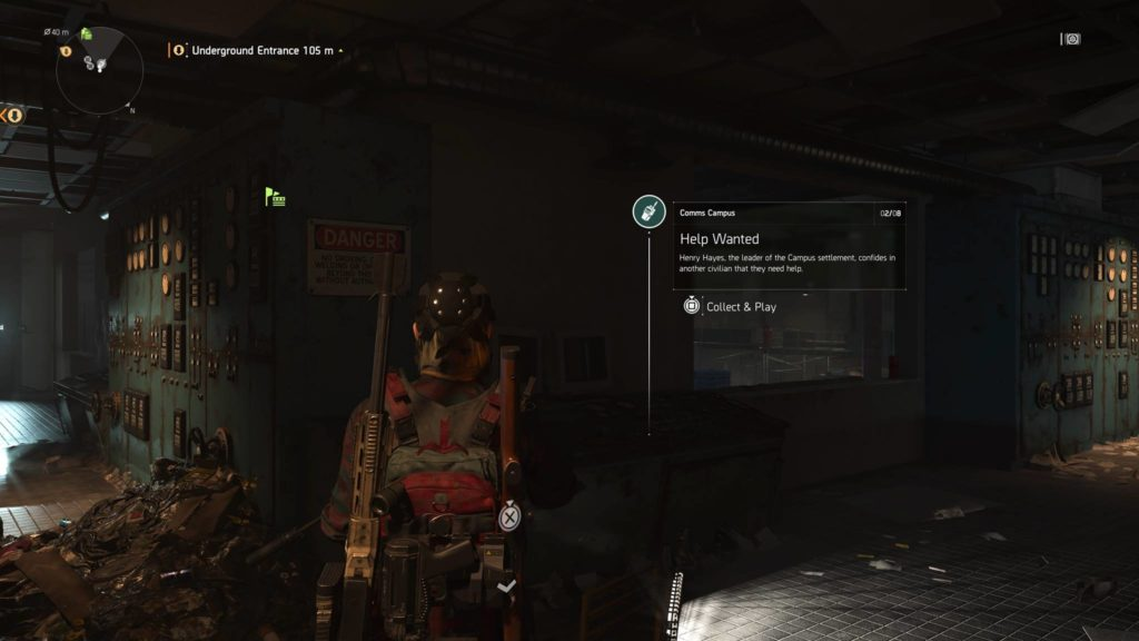 Division 2 Help Wanted Campus Comm Collectible Location