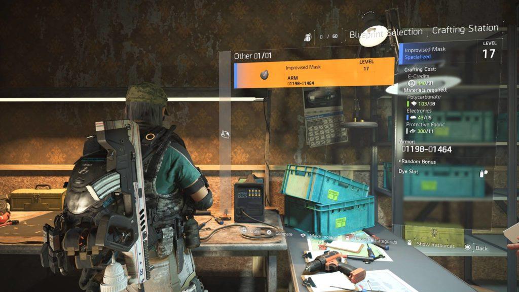 Division 2 Improvised Mask