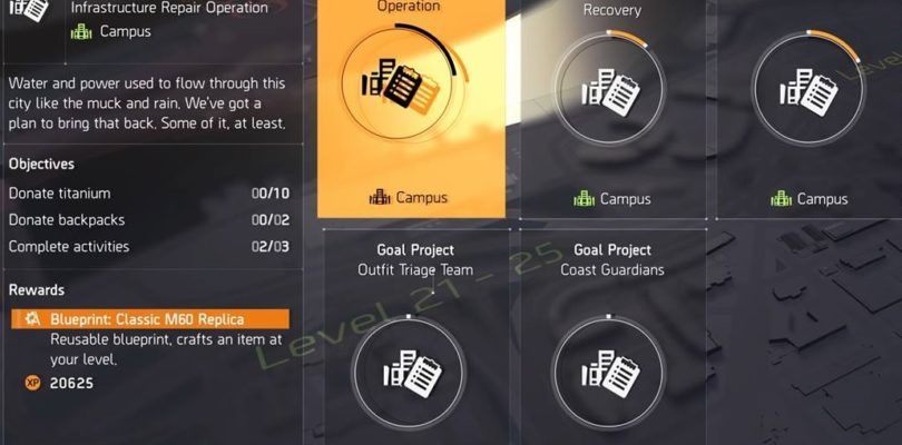 Division 2 Infrastructure Repair Operation Project Guide