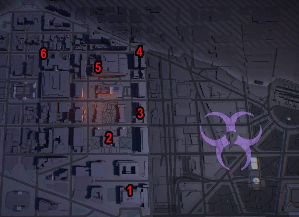 Division 2 Judiciary Square SHD Tech Caches Locations Map