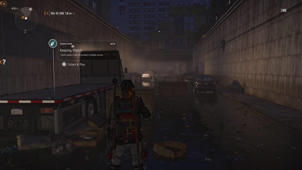 Division 2 Keeping Watch Castle Comm Collectible Location