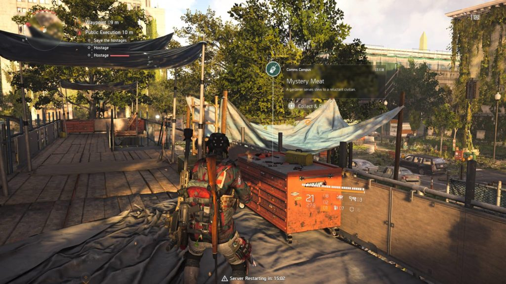 Division 2 Mystery Meat Campus Comm Collectible Location