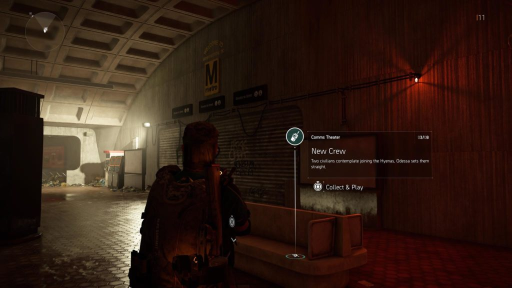 Division 2 New Crew Theater Comm Collectible Location