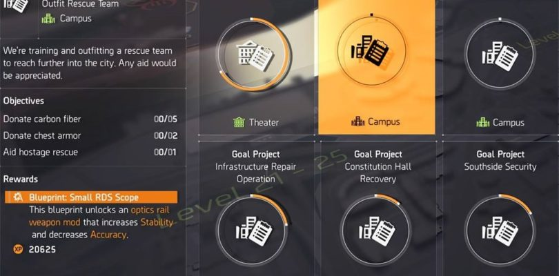 Division 2 Outfit Rescue Team Project Guide