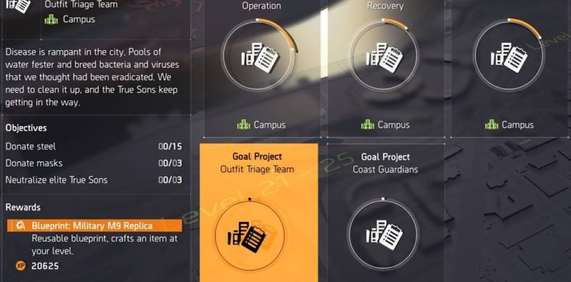 Division 2 Outfit Triage Team Project Guide