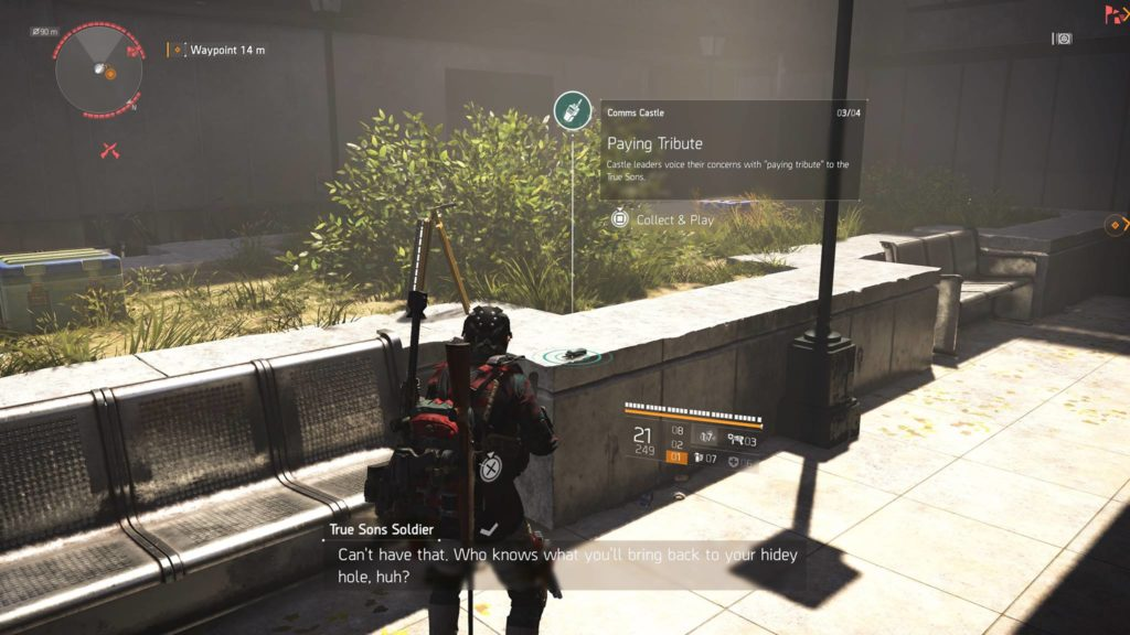 Division 2 Paying Tribute Castle Comm Collectible Location