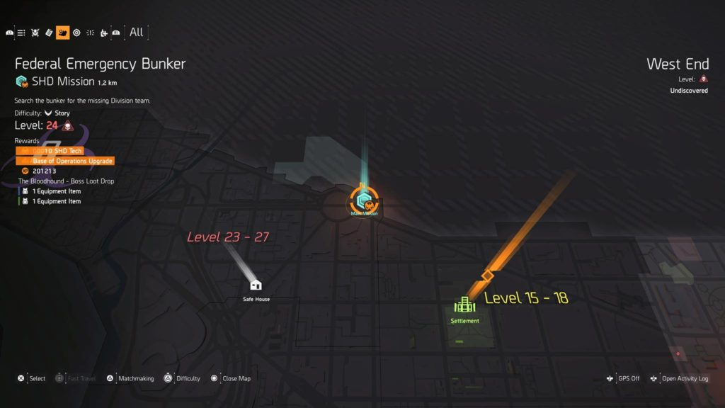 The Division 2 SHD Main Mission