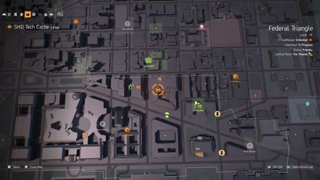 The Division 2 SHD Tech Points Locations