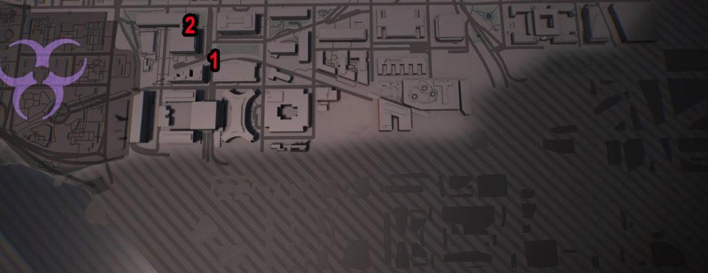 Division 2 Southwest Castle Comms Locations Map