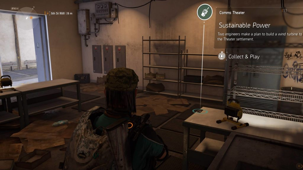 Division 2 Sustainable Power Theater Comm Collectible Location