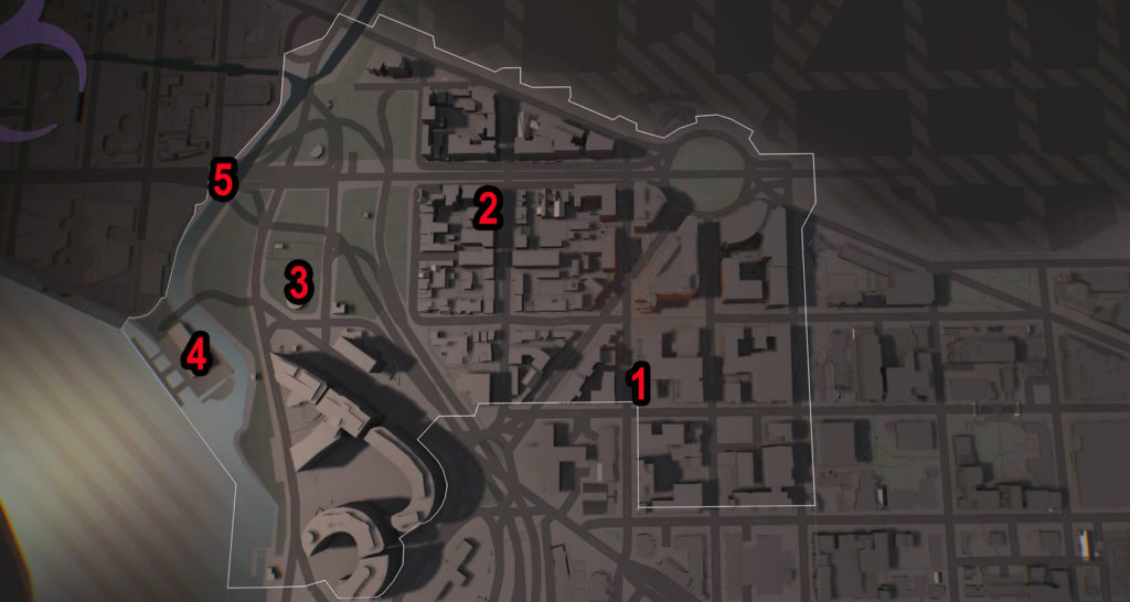 Division 2 West End SHD Tech Caches Locations Map