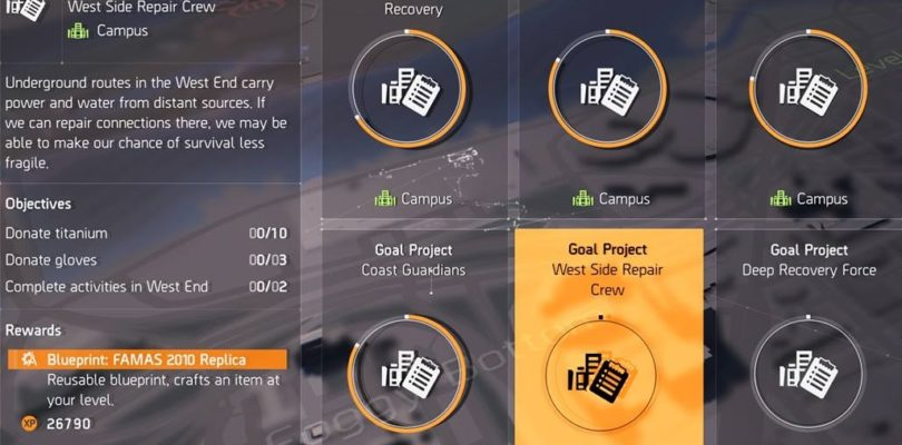 Division 2 West Side Repair Crew Project Guide