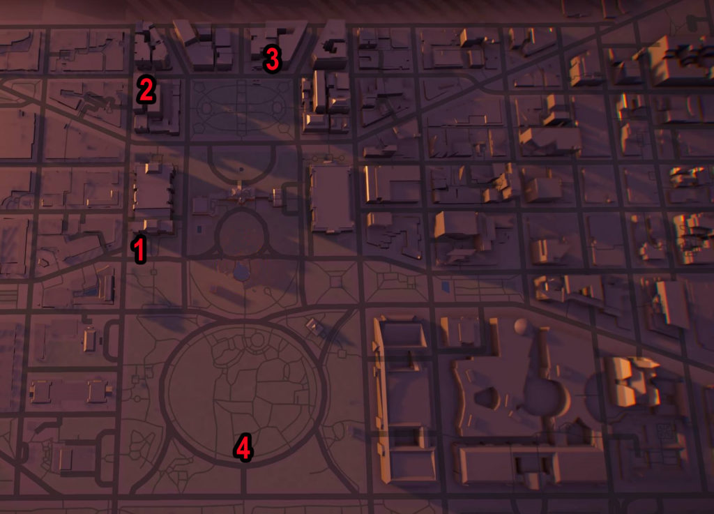 Division 2 White House SHD Tech Caches Locations Map