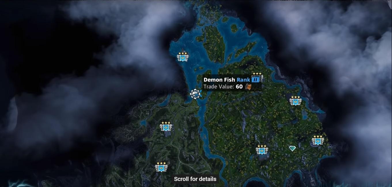 Demon Fish Far Cry New Dawn Location Hunting Spot Skin Value
