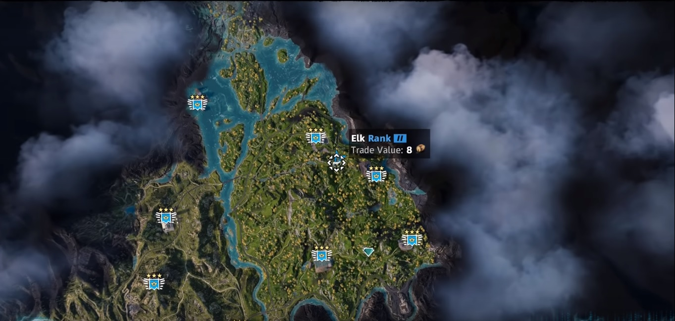 Elk Far Cry New Dawn Location Hunting Spot Skin Value